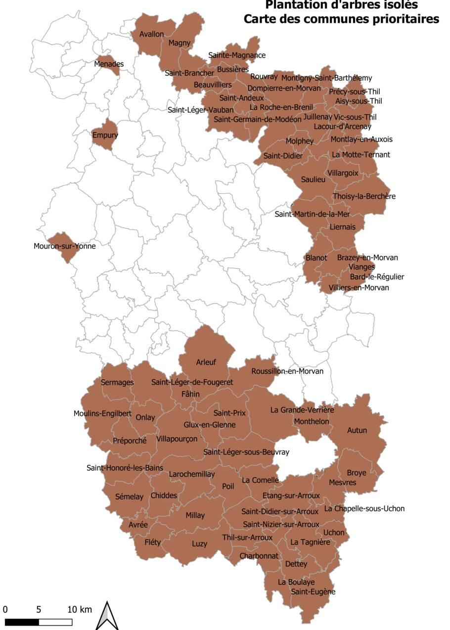 Avis aux agriculteurs de Bourgogne : 100 arbres isolés à planter dans les prairies du Morvan