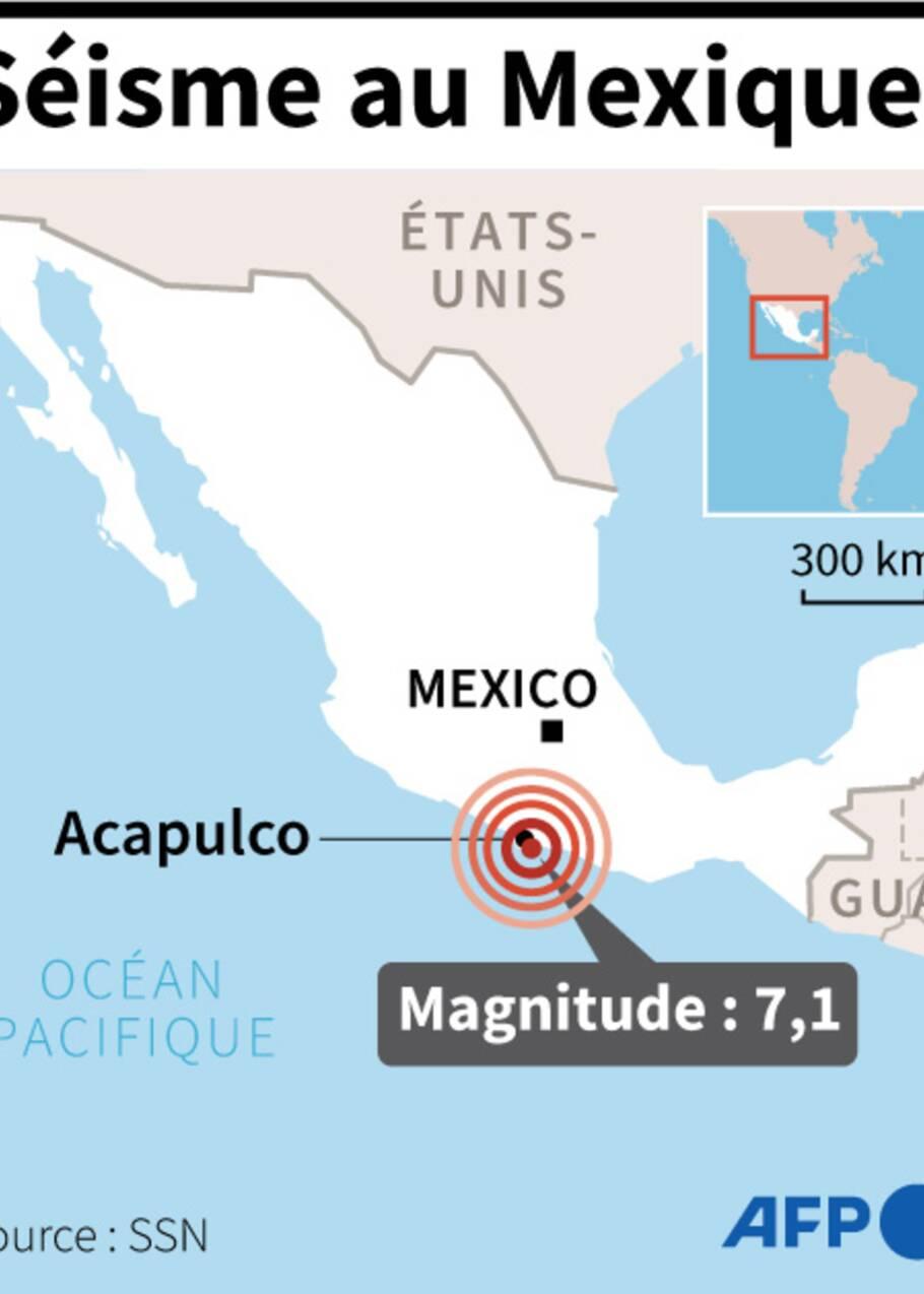 Séisme de magnitude 7,1 au Mexique, un mort et des dégâts