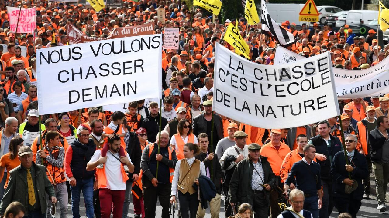 Une marée orange pour défendre la chasse et la ruralité