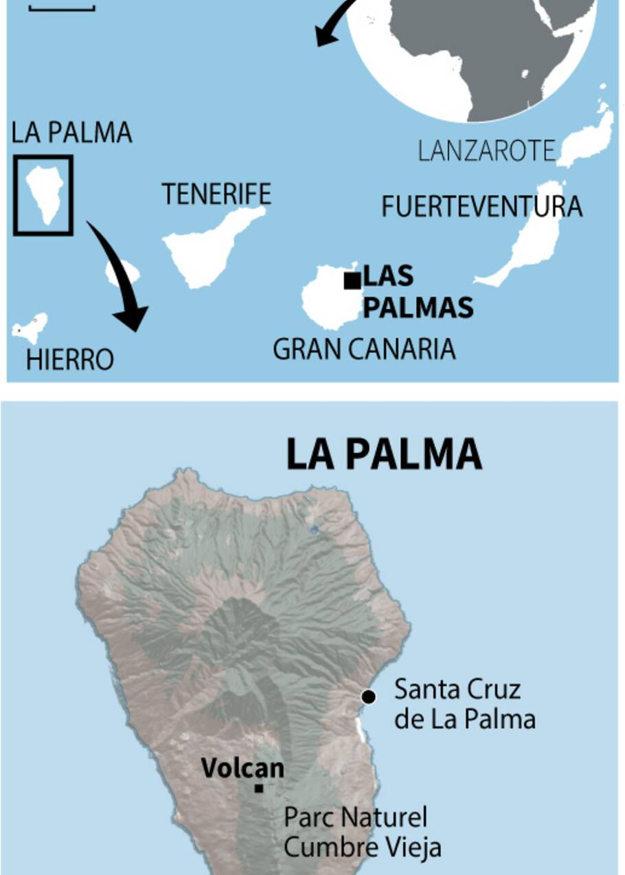 """Canaries: de """"nombreuses"""" maisons détruites par la lave sur l'île de La Palma"""