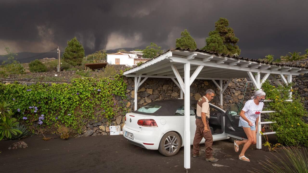 Eruption aux Canaries : l'une des deux coulées de lave n'avance plus