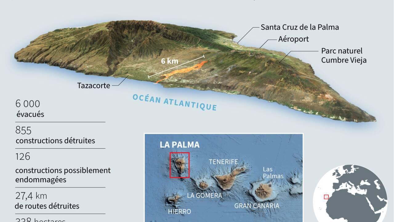 Canaries: la lave s'enfonce dans l'océan, craintes sur la qualité de l'air