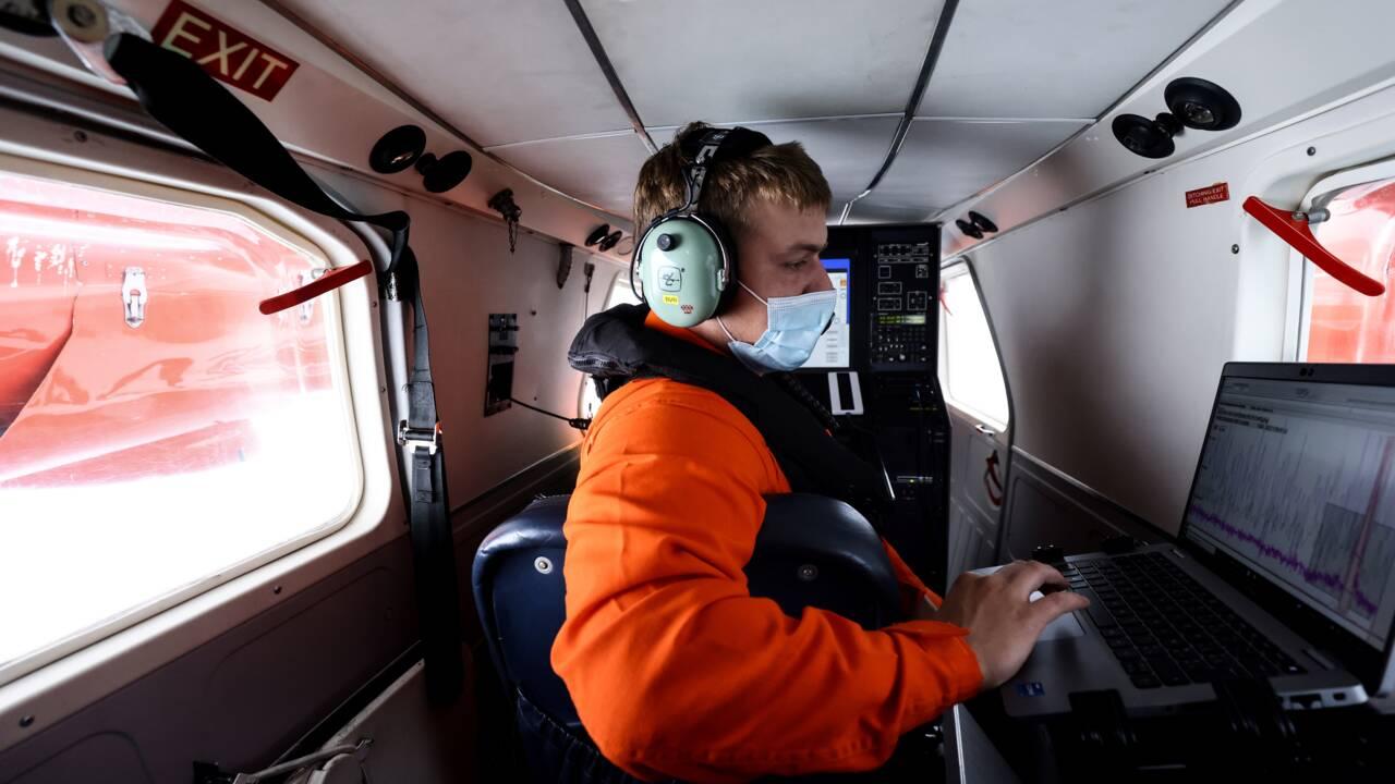 """L'avion """"renifleur"""", l'arme anti-pollution des gardes-côtes belges"""