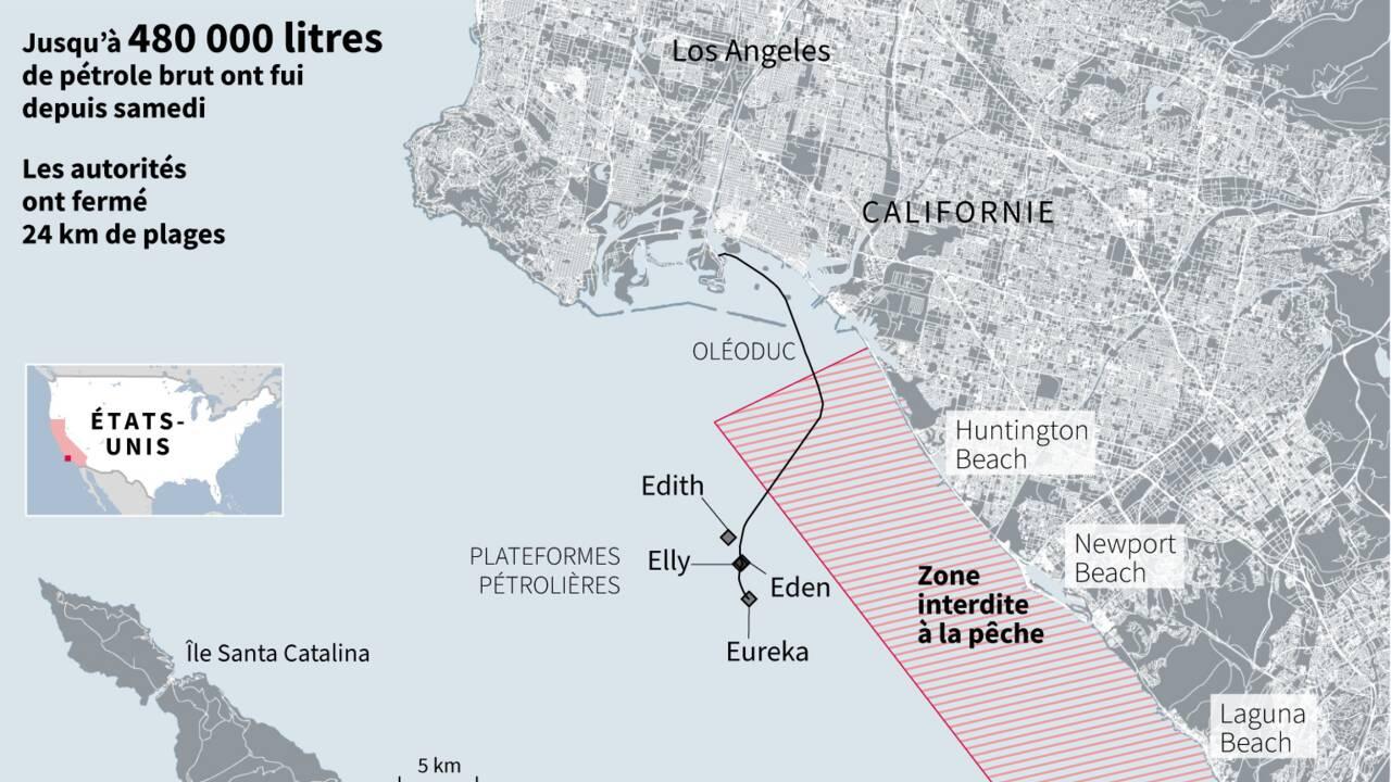 Course contre la montre en Californie pour contenir une marée noire