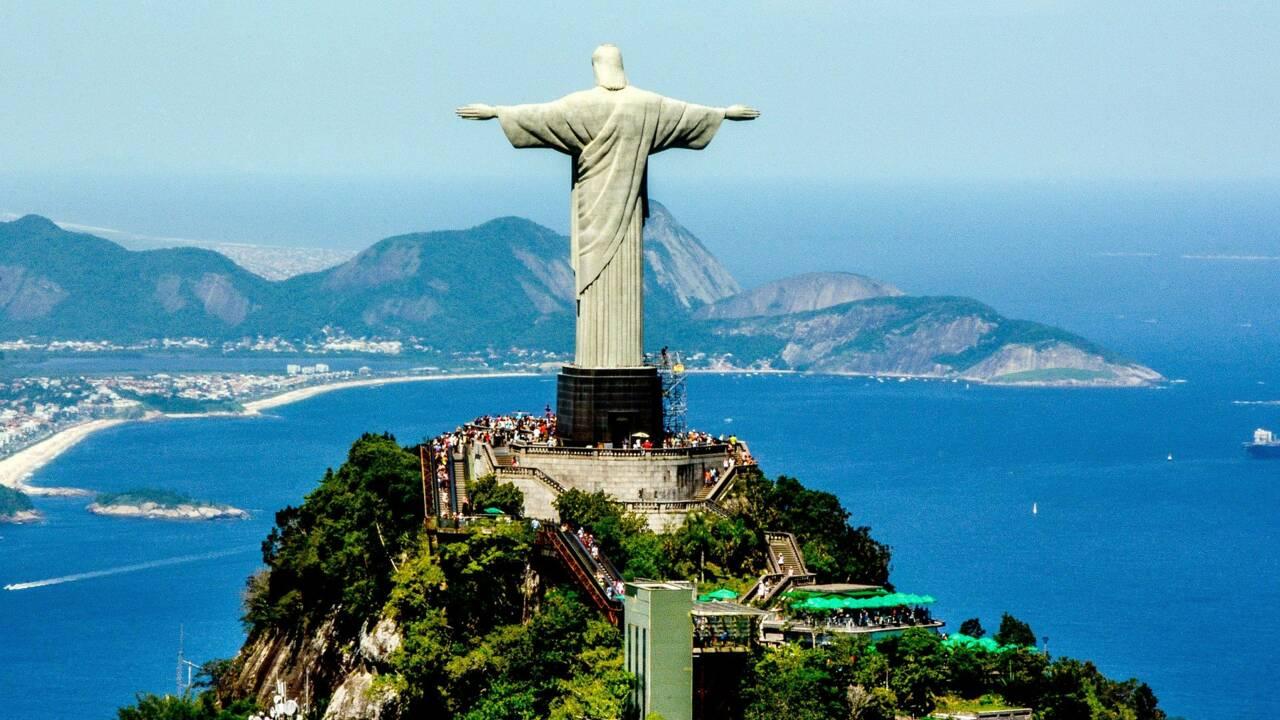 Rio de Janeiro : la statue du Christ rédempteur au sommet du Corcovado fête ses 90 ans