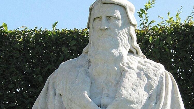 Statue représentant Léonard de Vinci