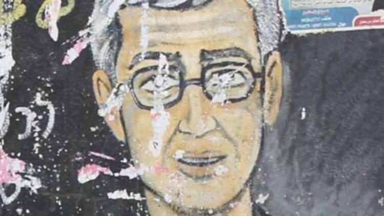 Détail d'une fresque représentant le soldat israélien Gilad Shalit, à Jabalya (bande de Gaza). © REUTERS.