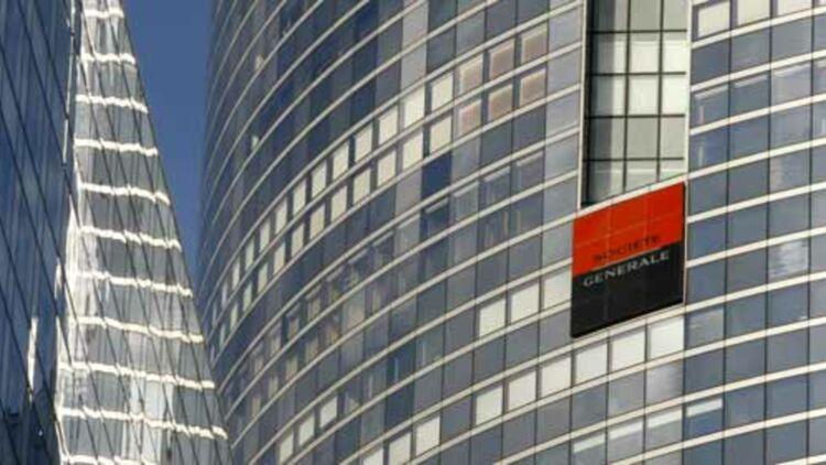 Les deux tours de la banque Société Générale, dans le quartier de la Défense, à Paris. © REUTERS.