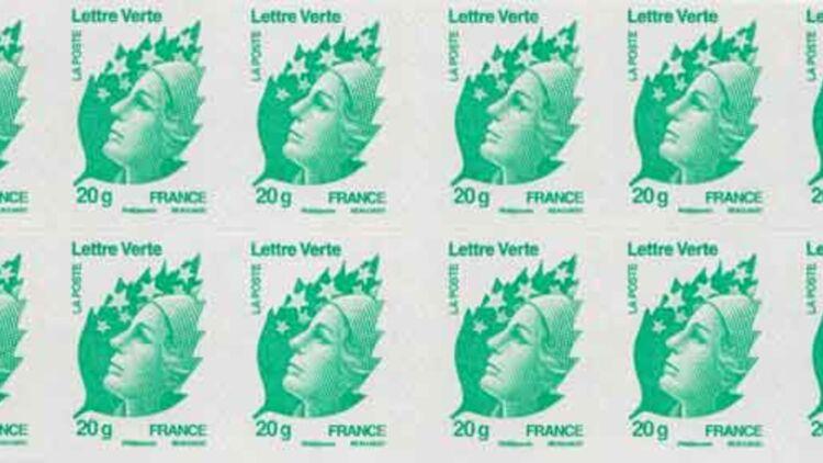Une planche des nouveaux timbres verts de La Poste. © La Poste.