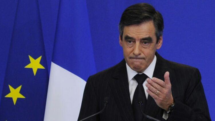 François Fillon annonce de nouvelles mesures d'austérité lors d'une conférence de presse, le 7 novembre 2011. © REUTERS.