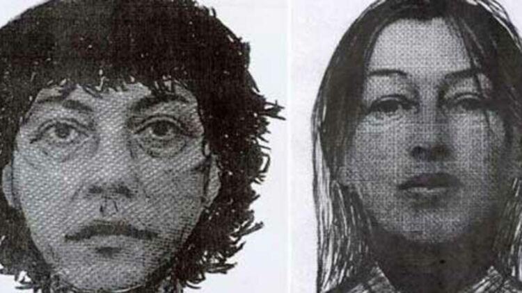 Portraits-robots de Stéphane Moitoiret, accusé du meurtre de Valentin et de Noëlla Hego, sa complice présumée. © DR.