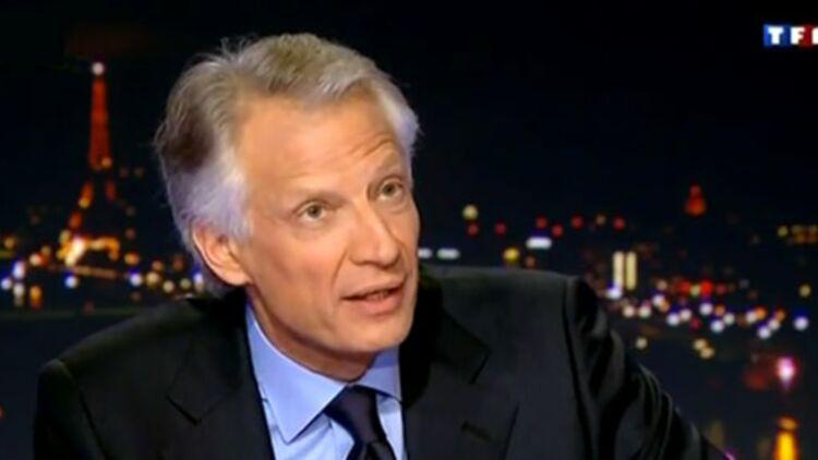 Dominique de Villepin a annoncé sur le plateau de TF1 sa candidature à la présidence de la République, le 11 décembre 2011. © TF1.