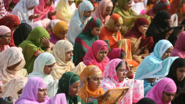 Musulmanes indiennes à Ahmedabad pour le festival Eid al-Adha - novembre 2011 ©REUTERS
