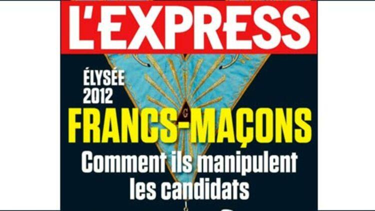 La couverture de L'Express sur les francs-maçons pour la semaine du 4 au 10 janvier 2012