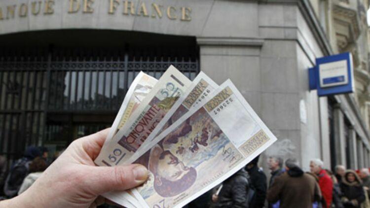 """Le billet de 20 Francs """"Debussy"""" se vend jusqu'à 30 euros sur le site d'enchères en ligne Ebay. © REUTERS."""
