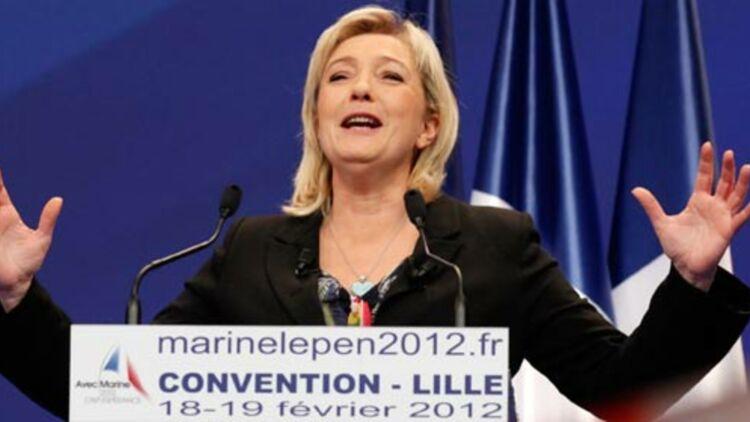 Lors de la convention du FN à Lille, Marine Le Pen a affirmé que toute la viande distribuée en Ile-de-France était halal. © REUTERS.