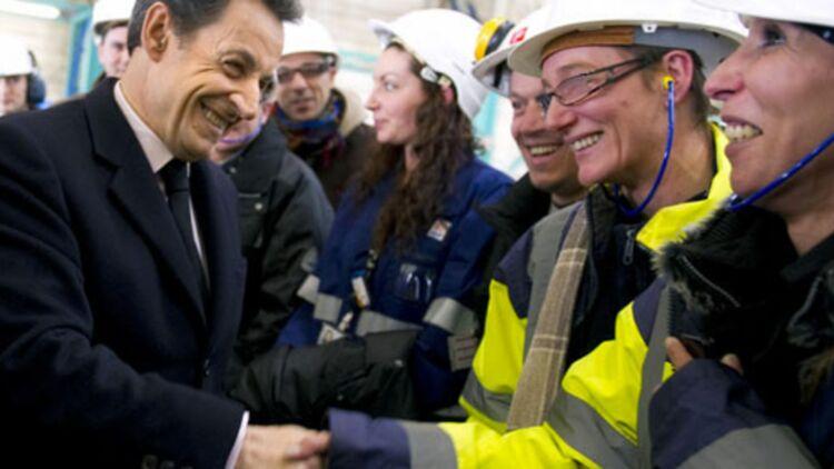 Au début du mois, Nicolas Sarkozy a rencontré les ouvriers de la centrale nucléaire de Fessenheim (Haut-Rhin). © REUTERS.