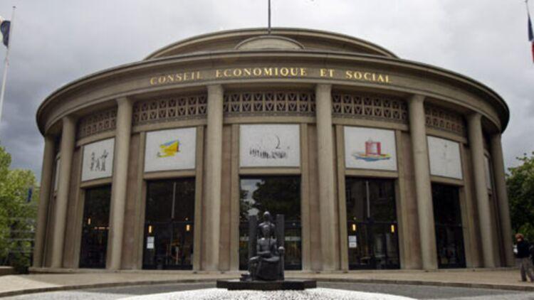 Le Conseil économique, social et environnemental siège au Palais d'Iéna, à Paris. © REUTERS.