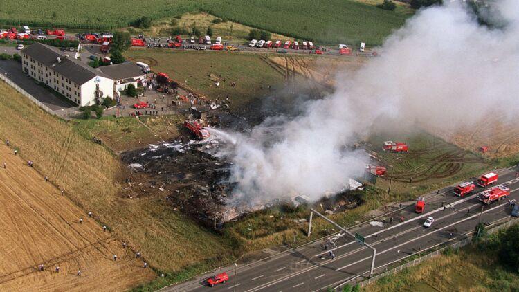 Le 25 juillet 2000, un Concorde d'Air France s'écrasait sur un hôtel à Gonesse (Val-d'Oise). © REUTERS.