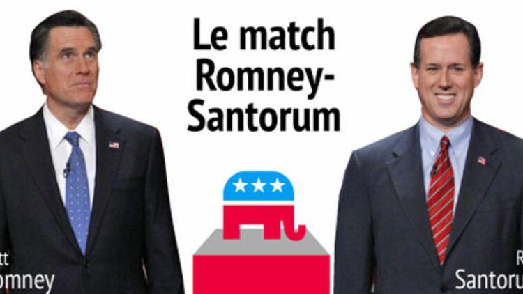 Longtemps relégué en arrière-plan du débat, Rick Santorum est devenu l'adversaire le plus sérieux de Mitt Romney. © REUTERS