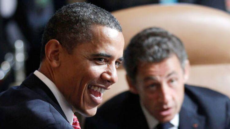 Barack Obama et et Nicolas Sarkozy lors d'un sommet du G8 à Huntsville, au Canada, en juin 2010. © REUTERS