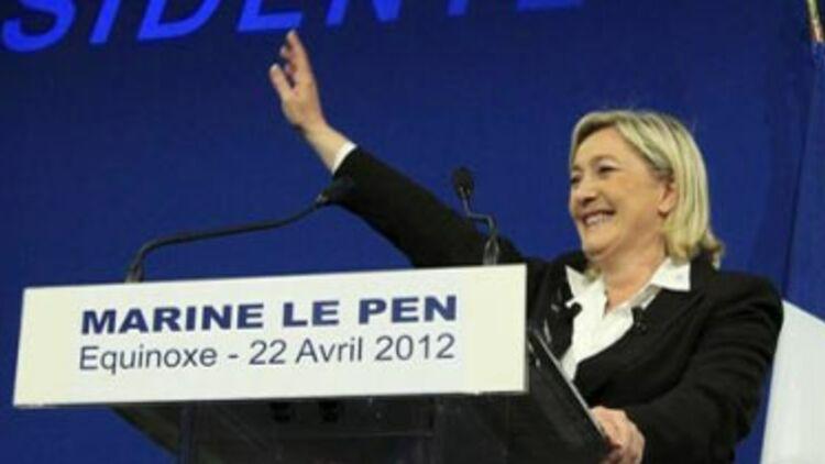 Marine Le Pen parie sur la défaite de Nicolas Sarkozy pour se développer © Reuters