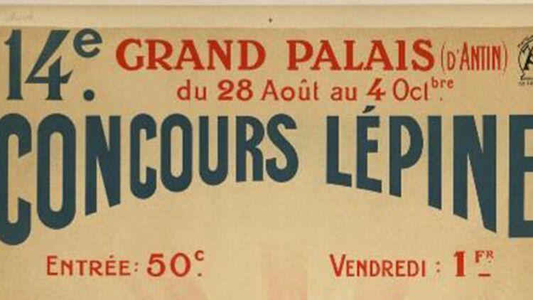 Extrait de l'affiche du concours Lépine 1910. © Wikimédia.