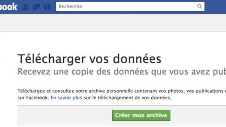 capture d'écran de la page pour télécharger son profil sur Facebook. © REUTERS