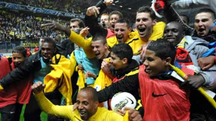 En battant Rennes, l'équipe de Quevilly s'est qualifiée pour la finale de la Coupe de France, qui se jouera le 28 avril. © REUTERS