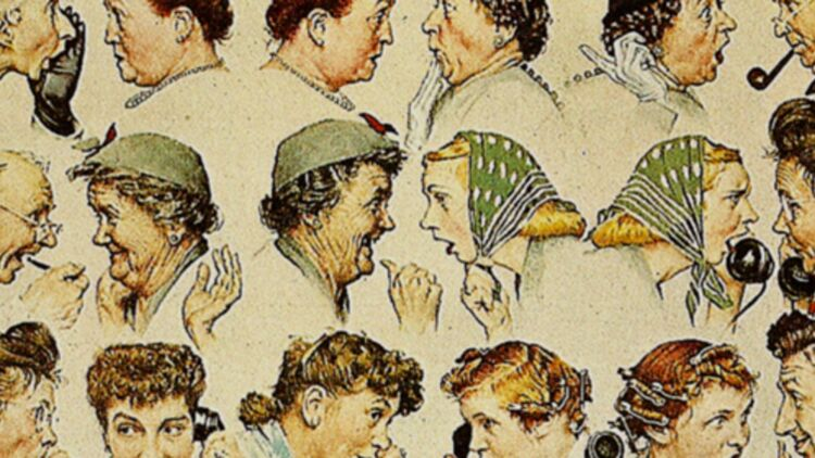"""The gossip"" (la rumeur), par Norman Rockwell. via FlickR CC license by koiart71"
