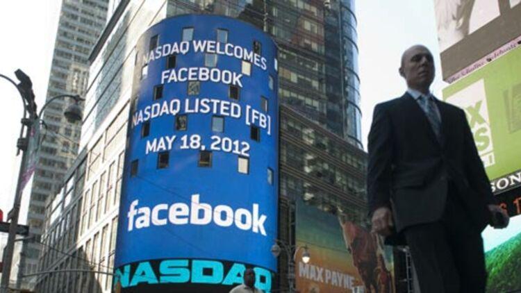 Facebook est entré à la bourse de New York (Nasdaq) ce vendredi 17 mai 2012, au prix de 38 dollars par action. © REUTERS