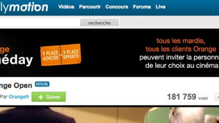 Orange a déjà acheté 49% du capital du site de partage vidéo début 2011. capture d'écran du site Dailymotion.