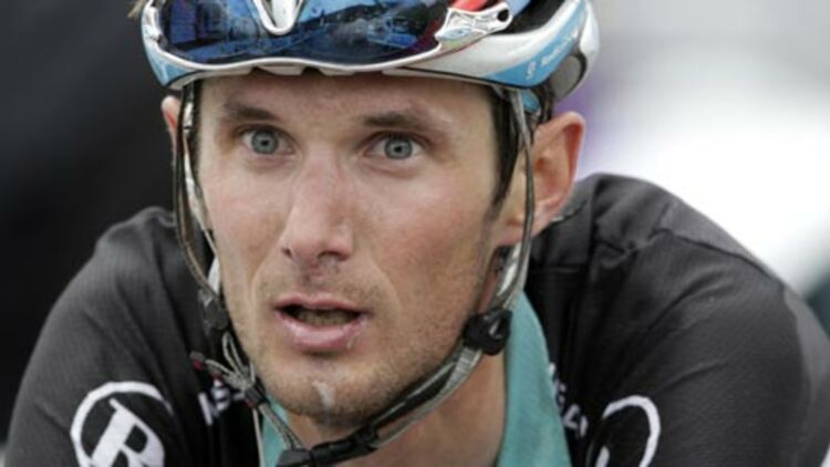 Le coureur Franck Schleck a été contrôlé positif à un examen antidopage sur le Tour de France, mardi 17 juillet 2012. © REUTERS