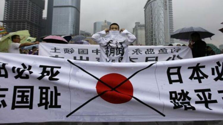 Manifestation anti-japonnaise à Chengdu (Chine), pour protester contre le rachat des îles Senkaku par le Japon, le 16 septembre 2012. ©