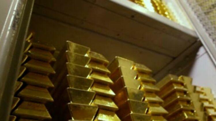capture d'écran de la vidéo de la Banque de France montrant la salle souterraine où reposent les réserves d'or de la France.