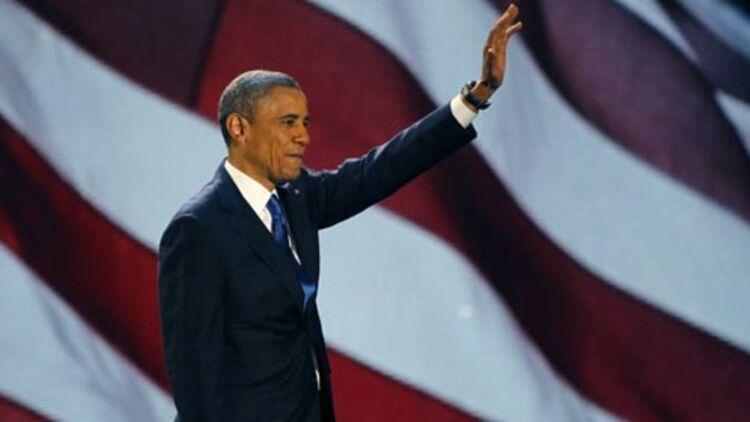 Le Président Barack Obama, réélu pour quatre ans à la Maison Blanche, fête sa victoire dans son fief à Chicago, le 7 novembre 2012. © REUTERS
