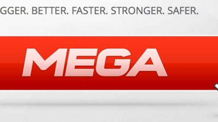 """capture d'écran du nouveau site de Kim Dotcom, baptisé """"Mega""""."""