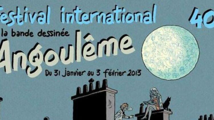festival international d'Angoulême de 2013, affiche du partenaire Cultura. via http://www.bdangouleme.com/