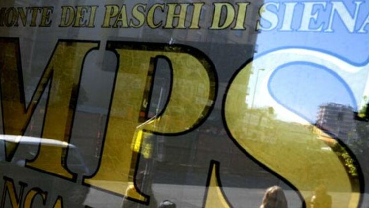 Une banque Monte dei Paschi di Siena, à Rome, le 29 janvier 2013. © REUTERS