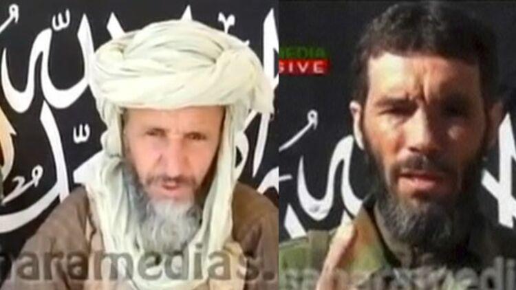 Abou Zeid à gauche et Mokhtar Belmokhtar, à droite. Montage Quoi.info via © REUTERS