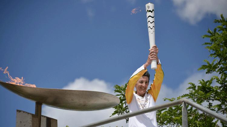 flamme olympique, Rosa Mota