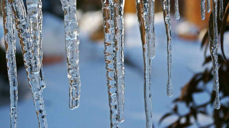 stalactite, glace, froid