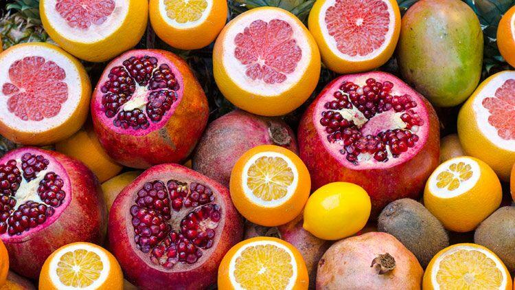 fruits, agrumes, pamplemousse, orange