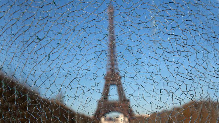 pare-brise, tour Eiffel, voiture