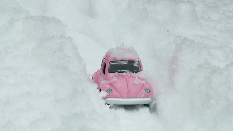 neige, voiture, salage, saler