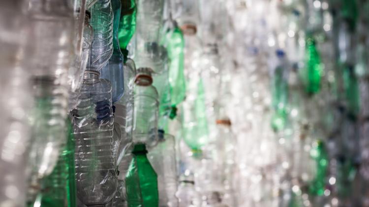 bouteille, plastique, recyclage