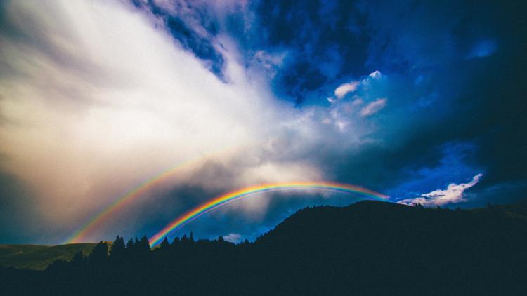 arc-en-ciel, couleurs