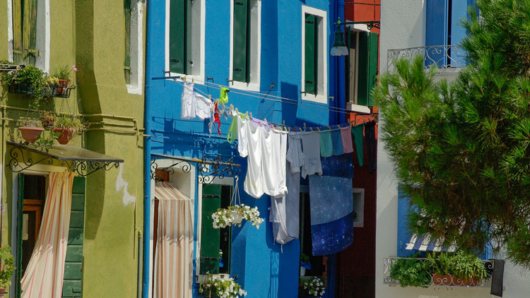 Linge, soleil, Italie
