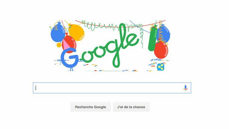 anniversaire google, google