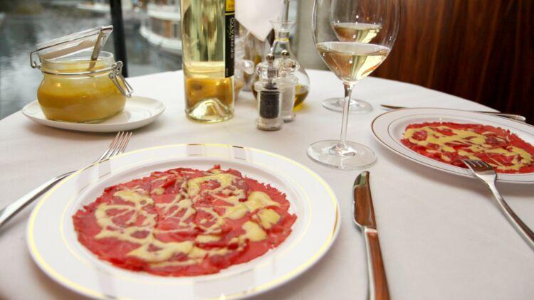 carpaccio, restaurant, repas